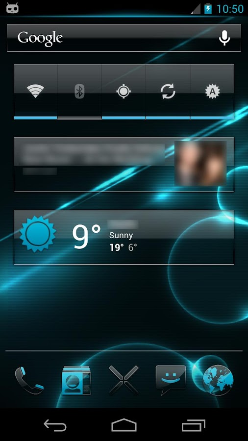 Crystal 2 CM10 Theme- screenshot
