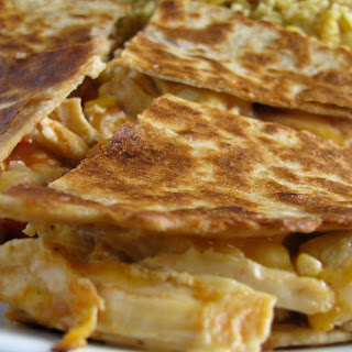 Cheesey Chicken Quesadilla's.