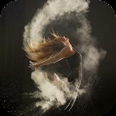 Girl and Smoke Live Wallpaper