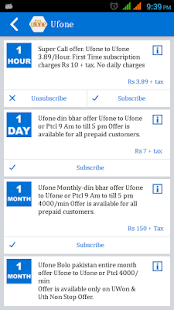 Mobile Packages List- screenshot thumbnail