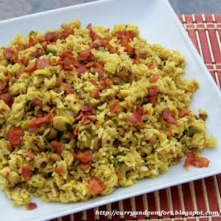 Curried Hoppin' John with Pork and Bacon.