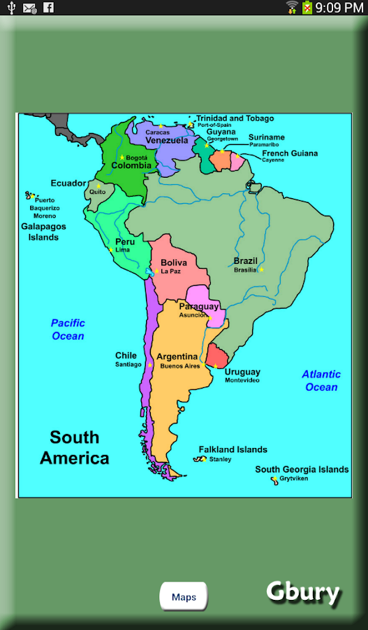 South America Countries Android Apps On Google Play - Map of south american countries