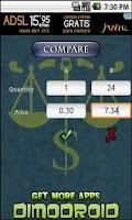 Screenshot of Price Comparator