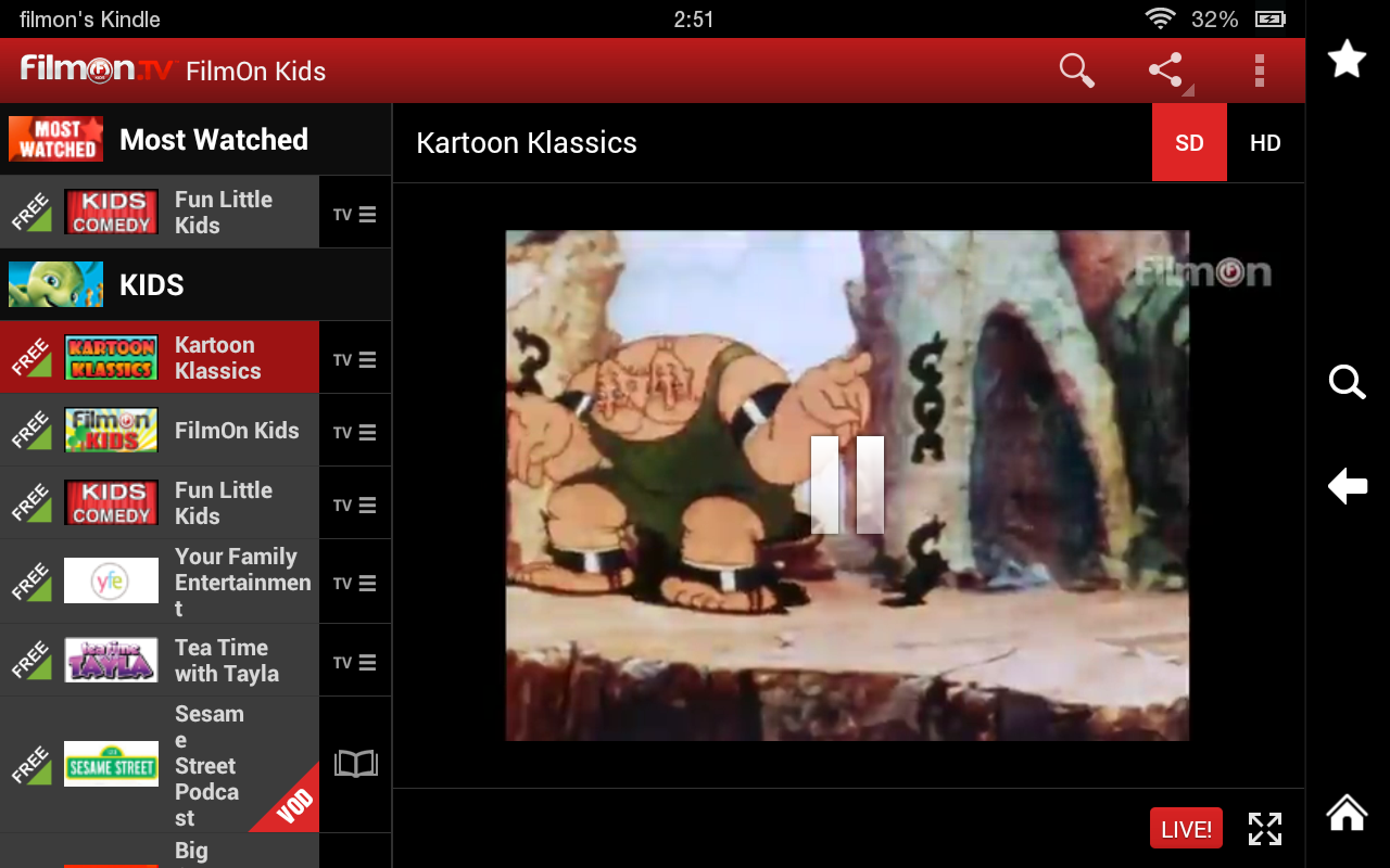 FilmOn Kids - Child Safe -