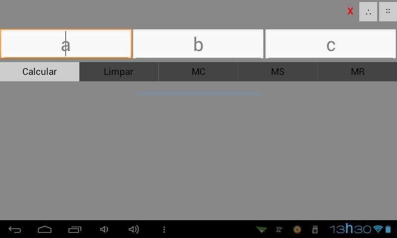 Calculadora a-b-c-x - screenshot