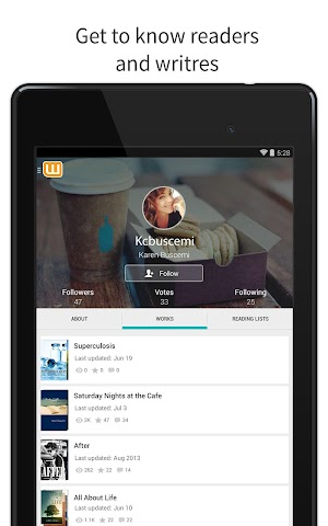 android Wattpad - Free Books & Stories Screenshot 7