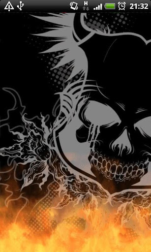 Graffiti Fire Skull LWP
