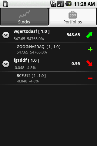 StockAid - screenshot