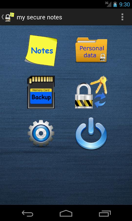 Σημειωματάριο -my secure notes - screenshot