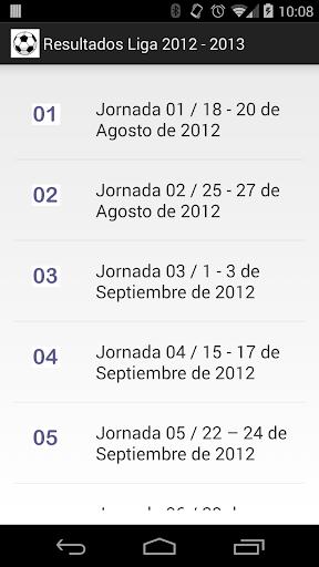 Resultados Liga 2012-2013