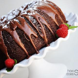 Triple Chocolate Bundt Cake.