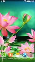 Screenshot of Lotus Live Wallpaper