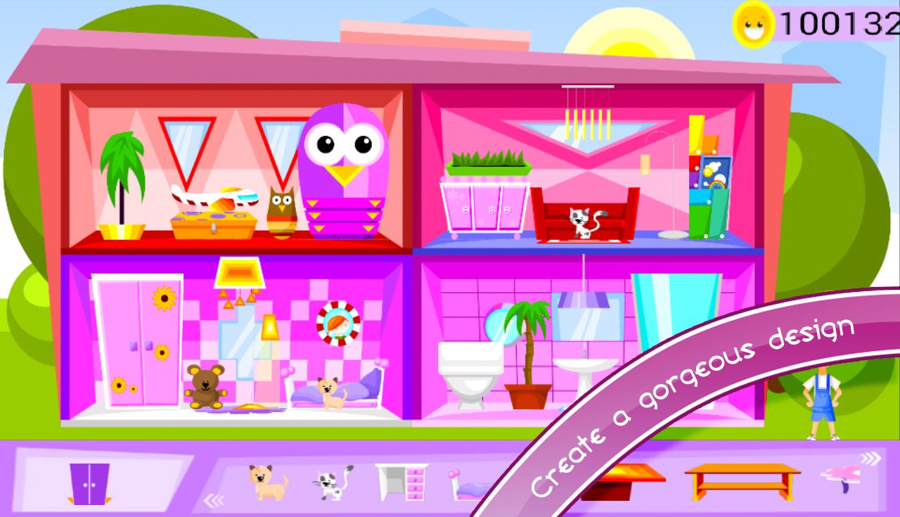 Doll house decorating games my new room 3 Home design app games