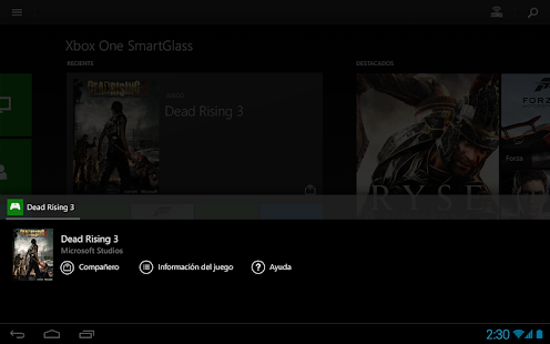 Xbox One SmartGlass - screenshot thumbnail