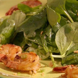 Soy Sauce-griddled Prawns With Spinach Salad And New-style Scampi