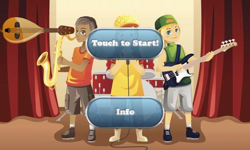 音樂氣泡的孩子 教育遊戲為幼兒