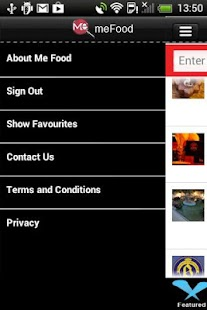 MeFood Application- screenshot thumbnail