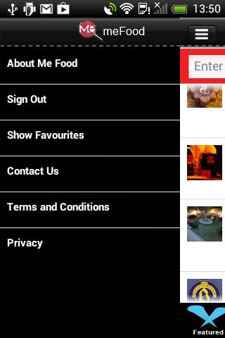 MeFood Application- screenshot
