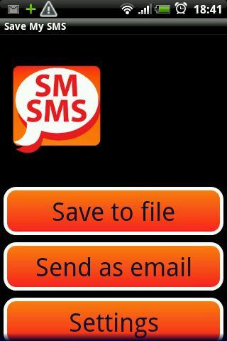 Save My SMS - screenshot