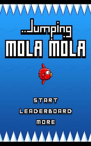 Jumping mola mola