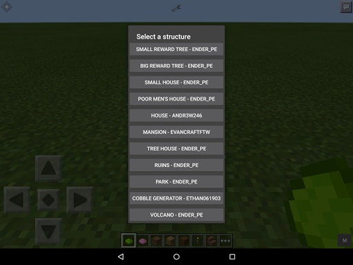 Instant Structure MCPE Mod