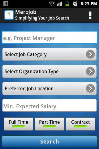 MeroJob.com- screenshot