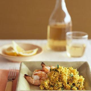 Lemon-Saffron Millet Pilaf