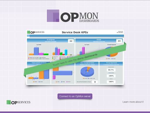 OpMon Dashboard Presenter