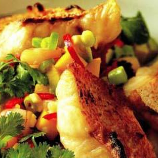 Char-grilled Snapper With Mango, Prawn And Chilli Salsa