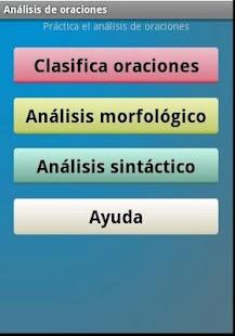 Análisis de oraciones - screenshot thumbnail