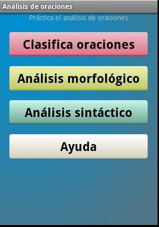 Análisis de oraciones- screenshot
