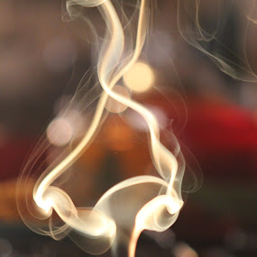 light & smoke by Cosmin Popa-Gorjanu - Abstract Patterns
