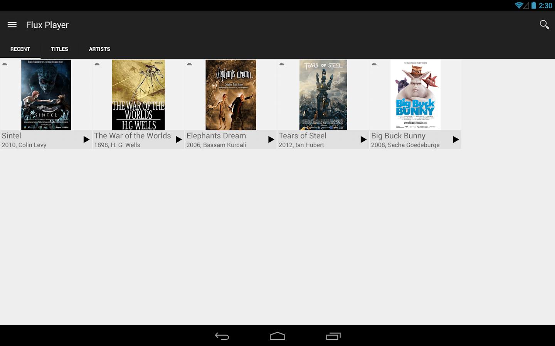 Flux Player - screenshot