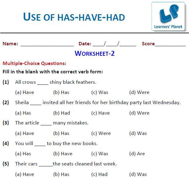 English Grammar Worksheets For Grade 3 - Scalien