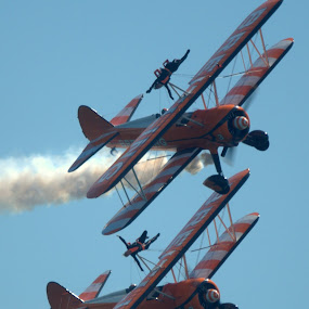 Breitling Wingwalkers by Doug Faraday-Reeves - Transportation Airplanes ( biplanes, wing walkers, wings, breitling )