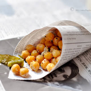 South Indian Sundal (Chickpea salad).