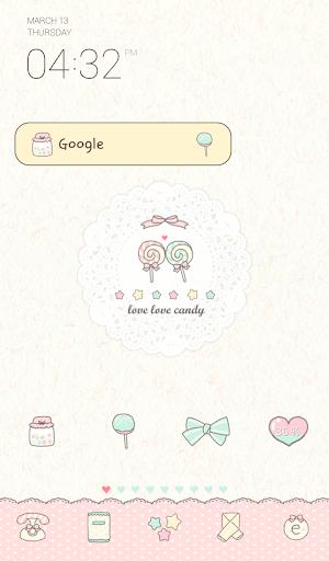 love love candy dodol theme