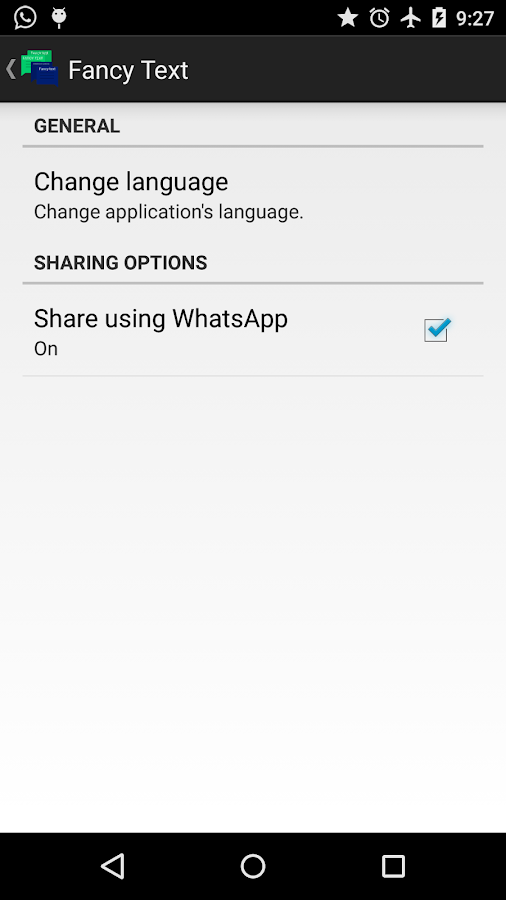 Fancy text for whatsapp- screenshot