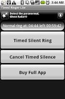 Screenshot of Timed Ringer Silencer Lite