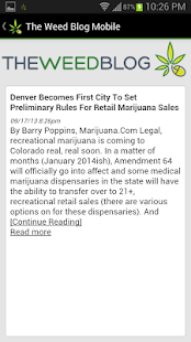 The Weed Blog Mobile - screenshot thumbnail