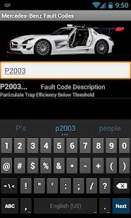 Mercedes-Benz Fault Codes - screenshot thumbnail