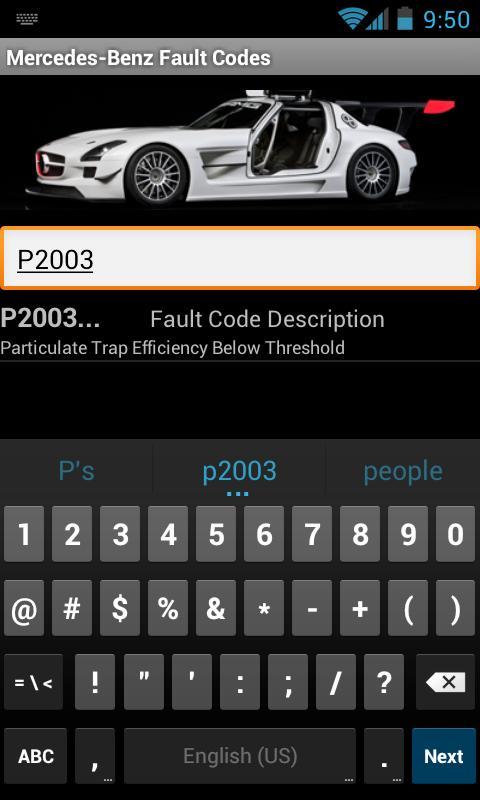 Mercedes-Benz Fault Codes - screenshot
