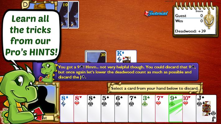 Championship Gin Rummy Cards - screenshot