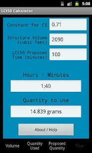 LCt50 Calculator- screenshot thumbnail