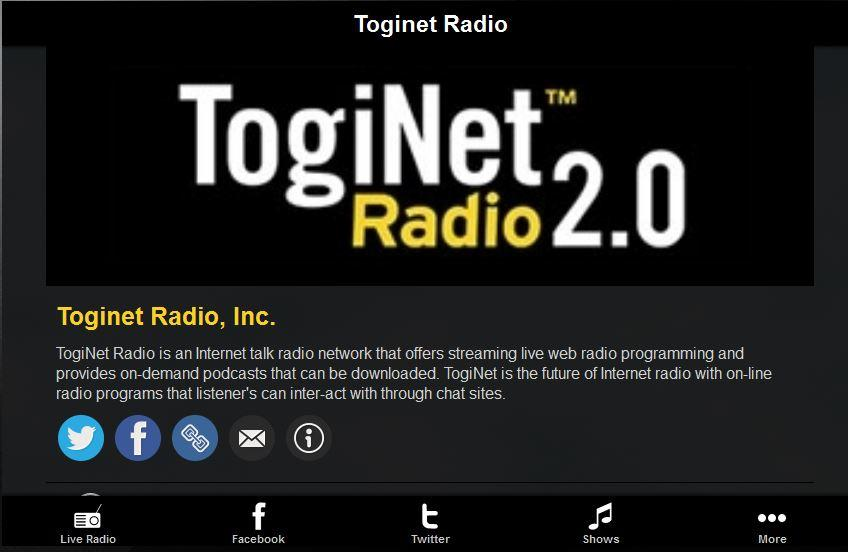 Toginet Radio - screenshot