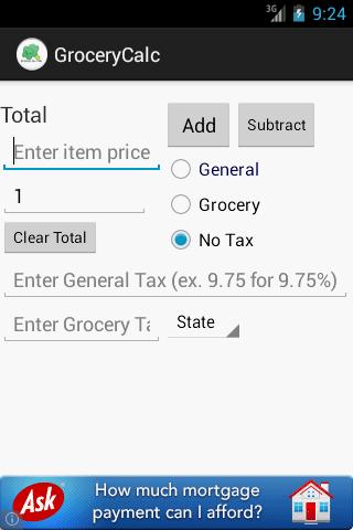 Grocery Tax Calculator