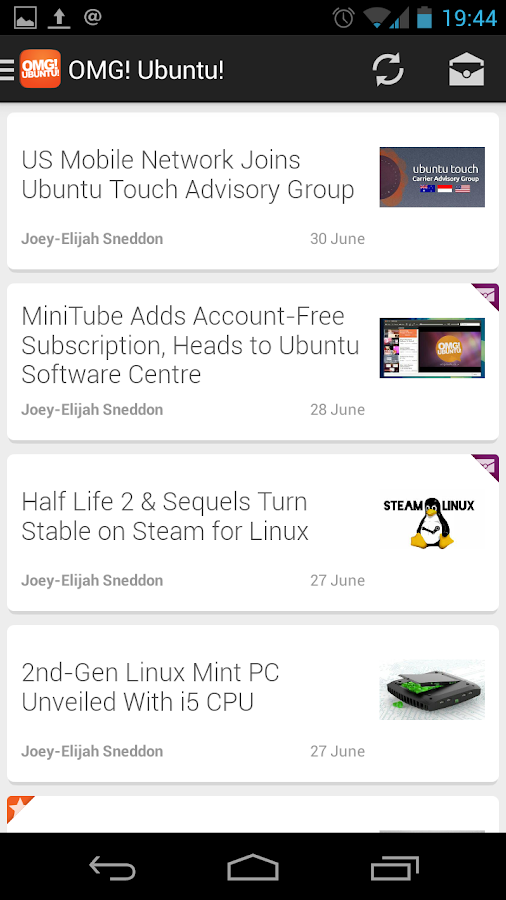 OMG! Ubuntu! for Android - screenshot