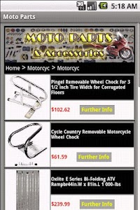 MOTORCYCLE PARTS & Accessories screenshot 2
