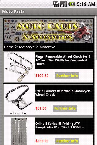 MOTORCYCLE PARTS & Accessories- screenshot