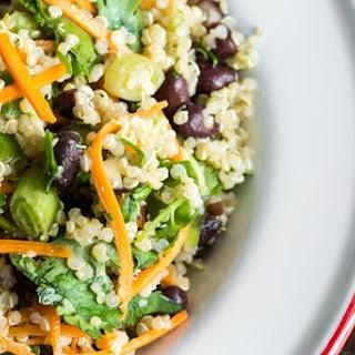 Cumin Lime Black Bean Quinoa Salad